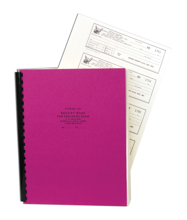 #138 - Numbered Receipt Book (Triplicate)