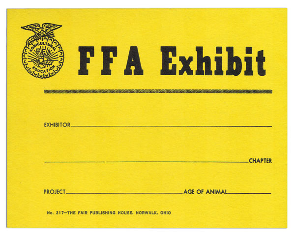 #217 - FFA Exhibit Cards
