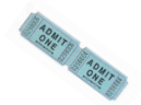 #654 - Admit One Stock Roll Ticket