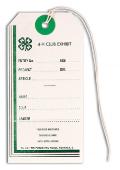 #33 - 4-H Entry Tag