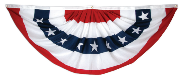 #103 - Poly/Cotton Fan Bunting w/ Stars and Stripes
