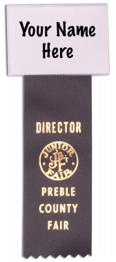 #175 - Name Badge with Ribbon