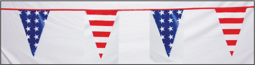 #95-SS  -  Stars and Stripes Pennants