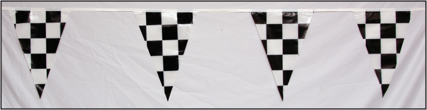 #97 - Black and White Plastic Checker Pennants