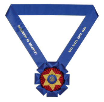 "#582 - Neck Ribbon w/ 8"" Rosette"